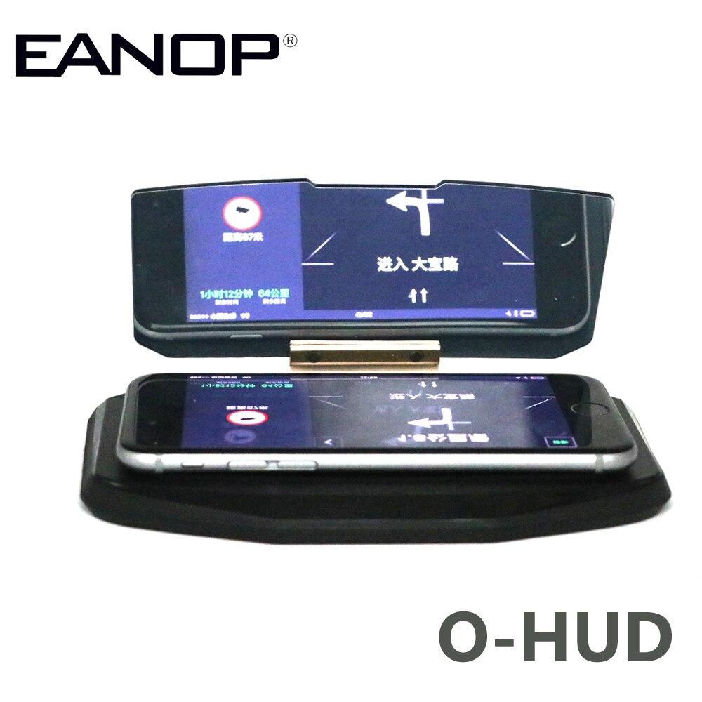 EANOP O-HUD HUD Head Up Display LED Car Projector GPS Holder