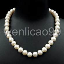 ZCD 1022+++10-11MM White Freshwater Pearl Necklace Beaded(China)