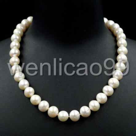 ZCD 1022+++10-11MM White Freshwater Pearl Necklace Beaded