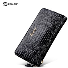 ZOOLER brand  woman wallets top quality high end women genuine leather wallet Classic stylish purse,famous colors