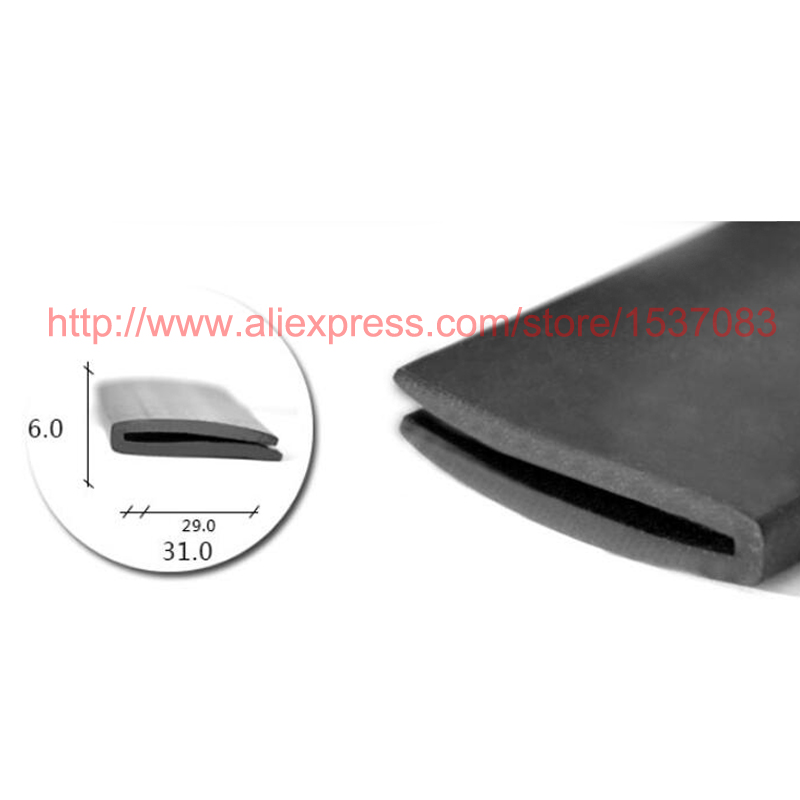 6mm X 31mm U Channel Door Window Epdm Rubber Edge Trim