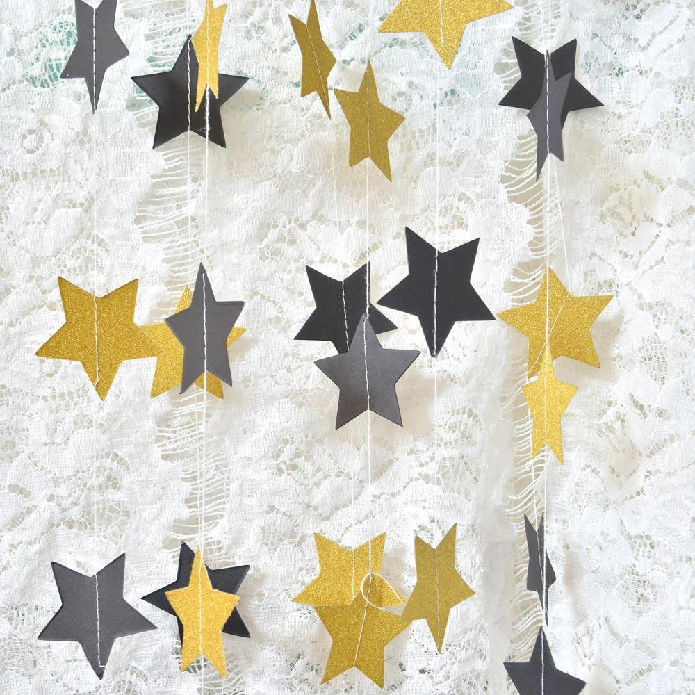 2μ Αστέρι Γκέρλαντ Circle Χαρτί Garland Strings - Προϊόντα για τις διακοπές και τα κόμματα - Φωτογραφία 6