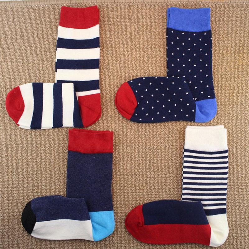 Fashion Elegant Happy Socks strips Male Casual Crew Colorful Cotton Socks Men Brand Dress Long Socks For Men Harajuku Sox
