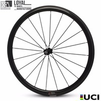 2018 Carbon Road Bike Wheels 25mm Width 38mm Depth Tubeless Rim With Bi tex Hub and Pillar 1423 Spoke Super Light Weight Bicycle Wheel     -