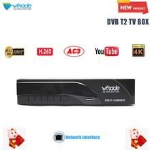 Vmade 2019 новые DVB-T/DVB-T2 построен RJ45 H.265/HEVC HD цифрового ресивера поддерживает YouTube Dolby AC3 телевизионная приставка DVB