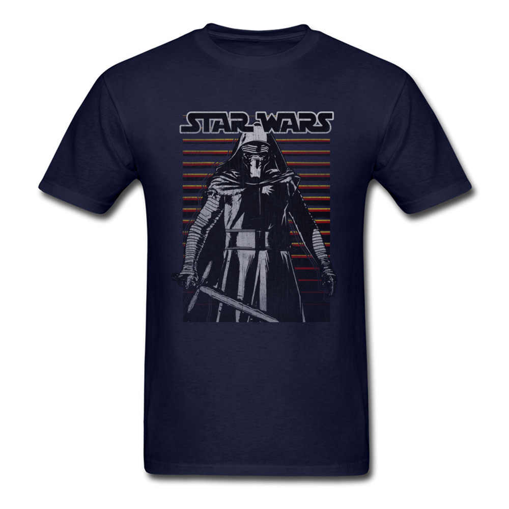 Men's Star Wars Tee-Shirt Modern Queen Band Casual Brand Clothing Kylo Ren Emerges Jedi Tshirt Iron Man Knight T Shirt