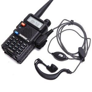 Image 1 - 2 قطعة راديو محطة سماعة سماعة TK ميناء موصل 2Pin PTT سماعة سماعة رأس لاسلكية كينوود BAOFENG UV 5R BF 888S kd c1