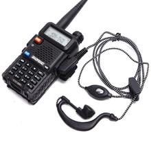 2 pçs estação de rádio fone de ouvido tk porto conector 2pin ptt fone de ouvido rádio kenwood baofeng UV 5R BF 888S kd c1
