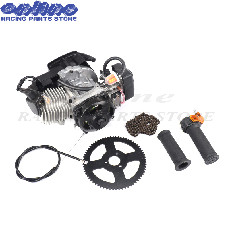40 6 7T Engine & Throttle cable Grips & chain Sprocket kit For 43cc 47cc 49cc Mini Dirt Pocket Bike Kids Baby ATV Quad Mini moto-in Engines from Automobiles & Motorcycles    2