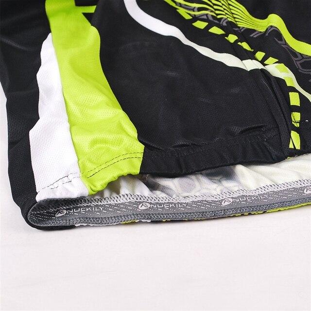 Inverno NUCKILY Mulheres Bicicleta Conjunto Camisa de Ciclismo Verde Jersey de Lã Térmica Calças Ciclo Define Montando Roupas GE010GF010 3