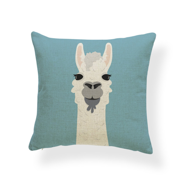 Animale Alpaca Fiore Fodere per Cuscini Cactus Del Partito Llama Coperture per Cuscini Tropicale Vintage Sedia Per Il Sofà Coperte e Plaid Cuscini 45 cm di Tela Morbida