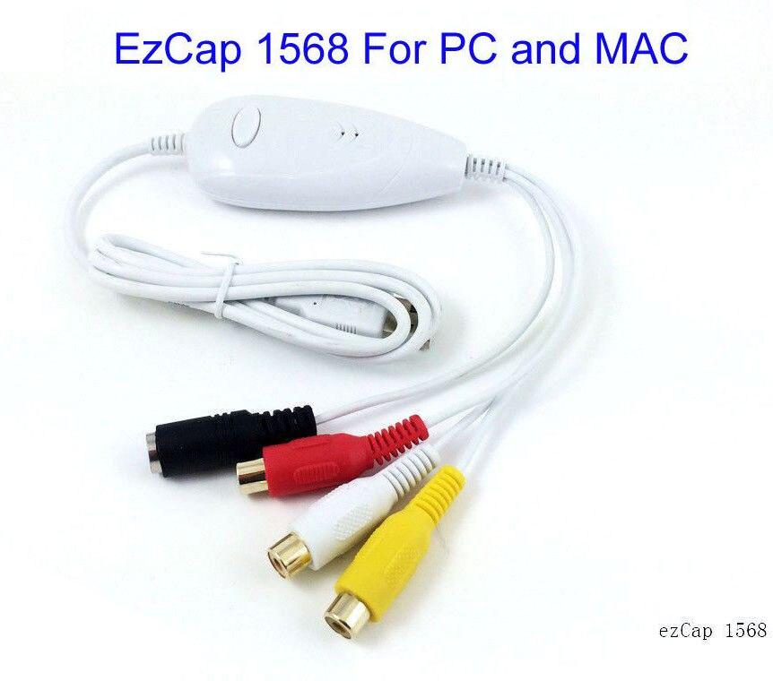 Original Ezcap1568 de Audio USB captura de vídeo analógico de VHS V8... Hi8... 8 MM cámara de caja de tv digital ajuste MAC OS y Win10 64