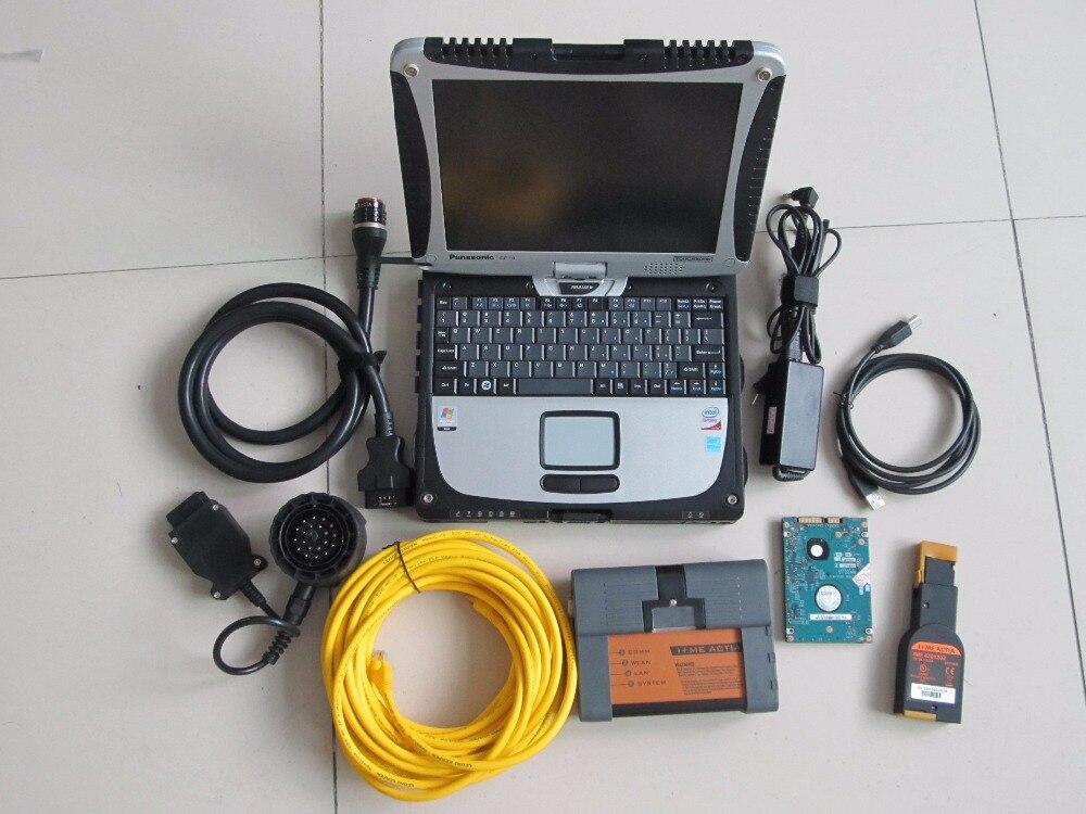 Для bmw icom isis isid icom a2 + для ПК жесткая книга CF-19 + 500 ГБ hdd v2018.05 (истад 4,10 p3.64) экспертный режим ноутбука полный набор