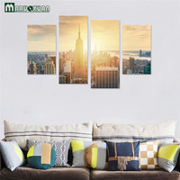 Maruoxuan 2017 New 3D Decorative Stickers Twilight In The City Landscape Stickers Bedroom Living Room Decorated