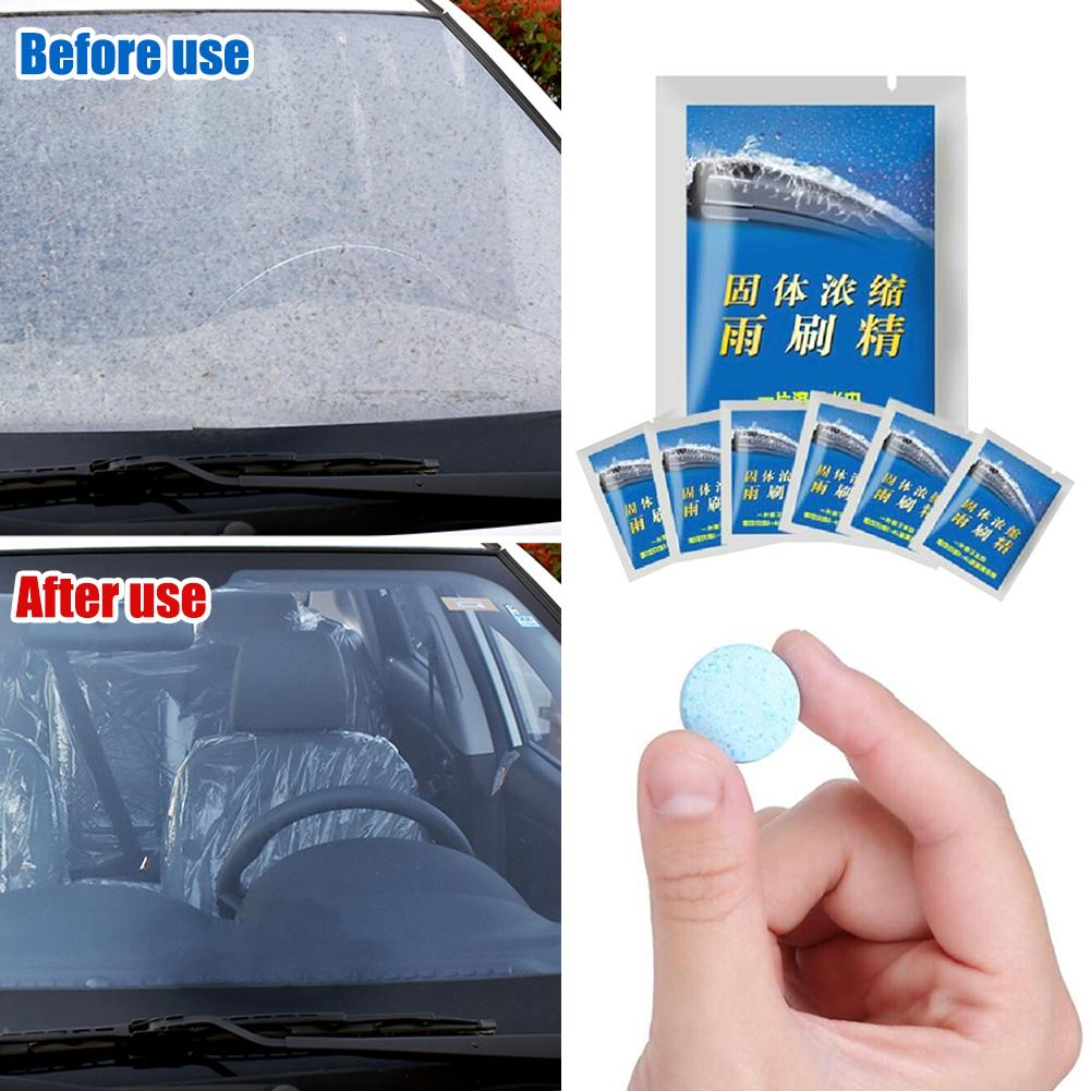 5pcs// pack car windshield glass cleaner car solid tablets wiper auto accessories