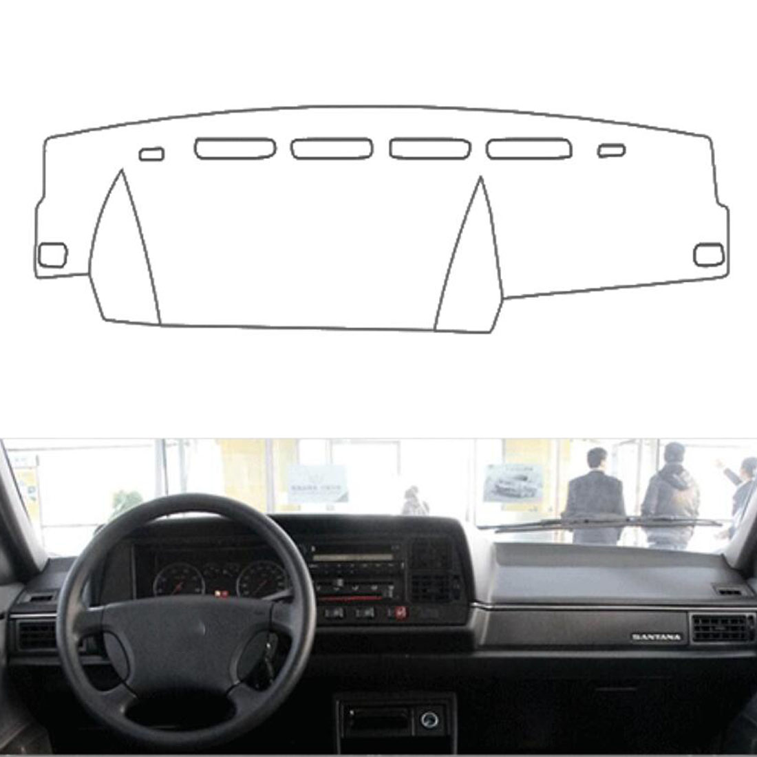 Dongzhen Fit For VW SANTANA 2004-2007 Auto Car Dashboard Cover Avoid Light Pad Instrument Platform Dash Board Cover Mat