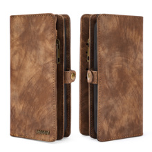Multifunctional Zipper Wallet Business  Case Detachable Magnetic Back Cover Luxury Leather For HUAWEI P30 Lite