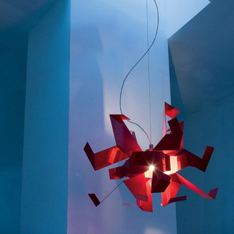 Moderne créatif en forme de conception suspension lampe blanche mille papier grue origami chambre décoration E27 lampe d'éclairage