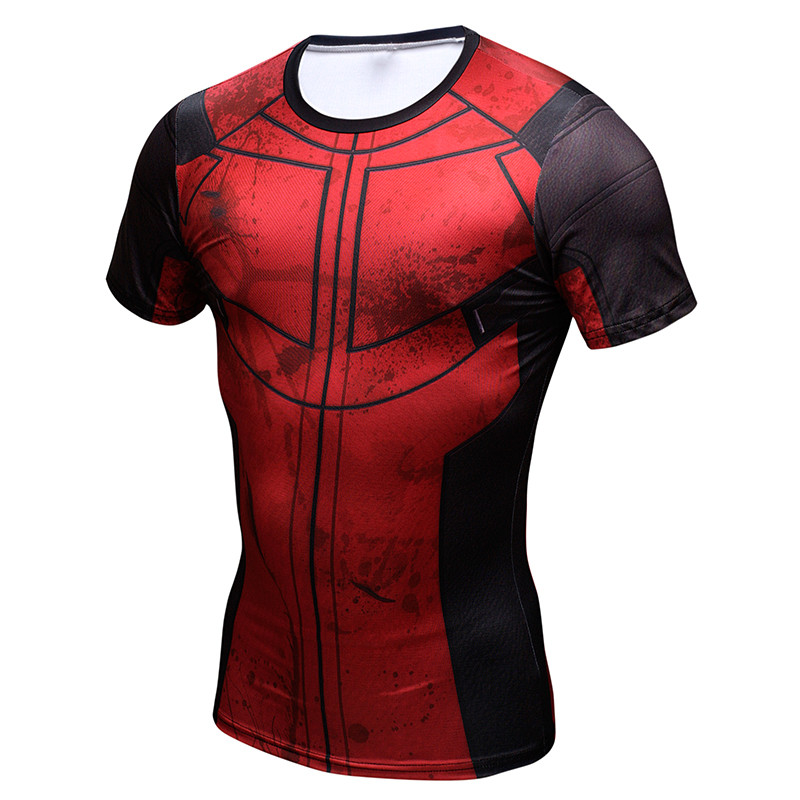 Iron Man T shirts Compression T-shirts Fitness Spider man 3D tops Quick Dry Slim Crossfit MaLe Tees 2017 Funny Tees ZOOTOP BEAR