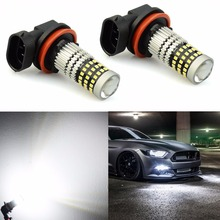 VANSSI 1400 Lumens Extremely Bright 1020 Chips 9006 HB4 H10 9140 9145 H16 H11 H8 LED Fog Light Bulbs, 6000K White,2 Pieces