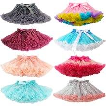 Новые стильные Пышные юбки-американки из шифона для маленьких девочек, юбки-пачки принцессы, одежда для маленьких девочек