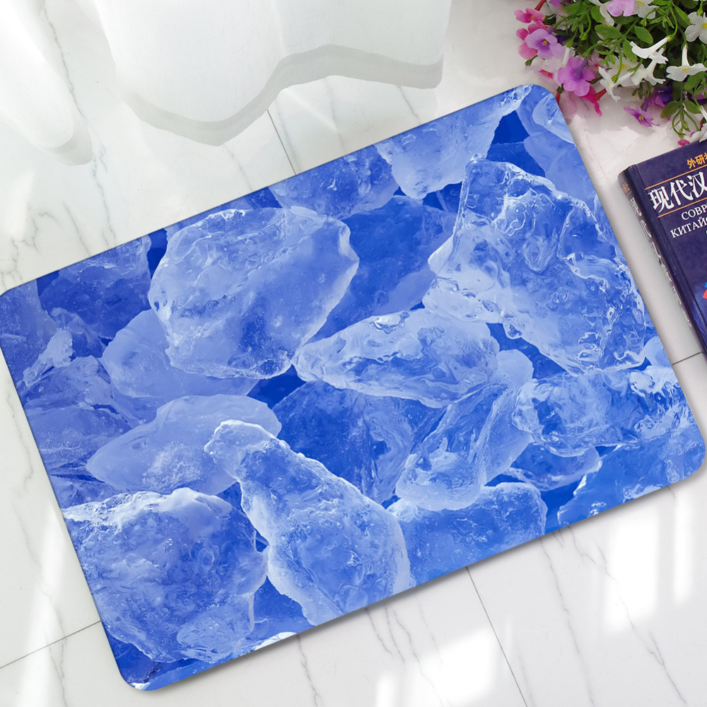 Teppich sommer eiswürfel muster moderne teppich 3d teppich matten saugfähige rutschfeste matten fußmatte home eingang polyester