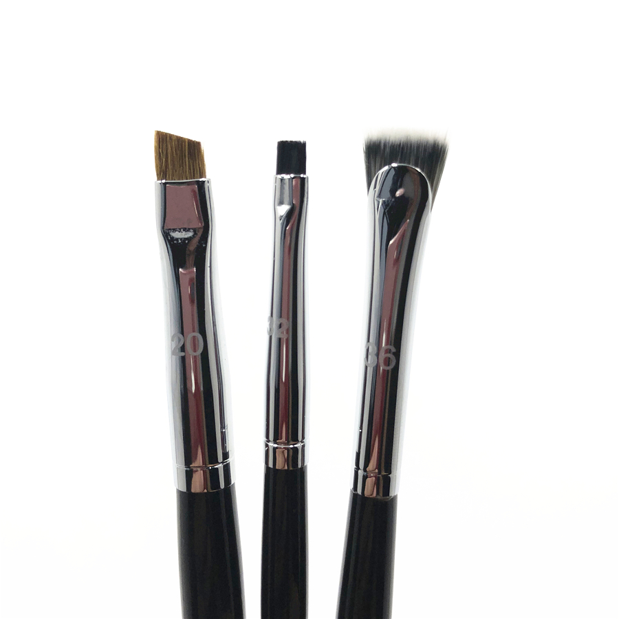 High Quality Small Tightline Eyeliner Brush Pro Angled Flat Eyebrow Contour Precision Brow Makeup Brush #20 #32 #36