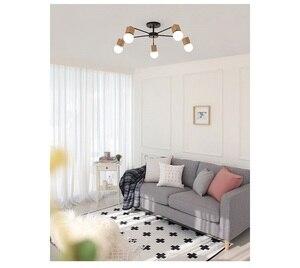 Image 4 - モダンレトロシャンデリアキッチン寝室の吊りアンティーク鉄シャンデリアアメリカンスタイルの錬鉄製のランプ近代的なledレトロ