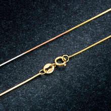 Italian Technology18K Gold Womens Snake Necklaces Slim Thin Snake Chains FOR Pendants Collarbone Chain Snake Bones Locket Link