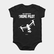 Baby Onesie Baby Bodysuits kid t shirt Funny novelty Drone UAV UAS FAA Quadcopter Pilot Part 107 (12) cool(China)