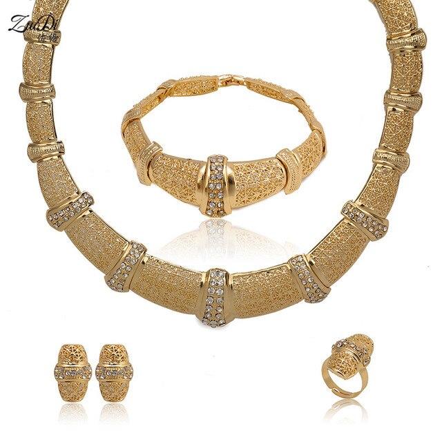 Zuodi 2018 Dubai Gold Jewelry Sets Bridal Gift Nigerian Wedding