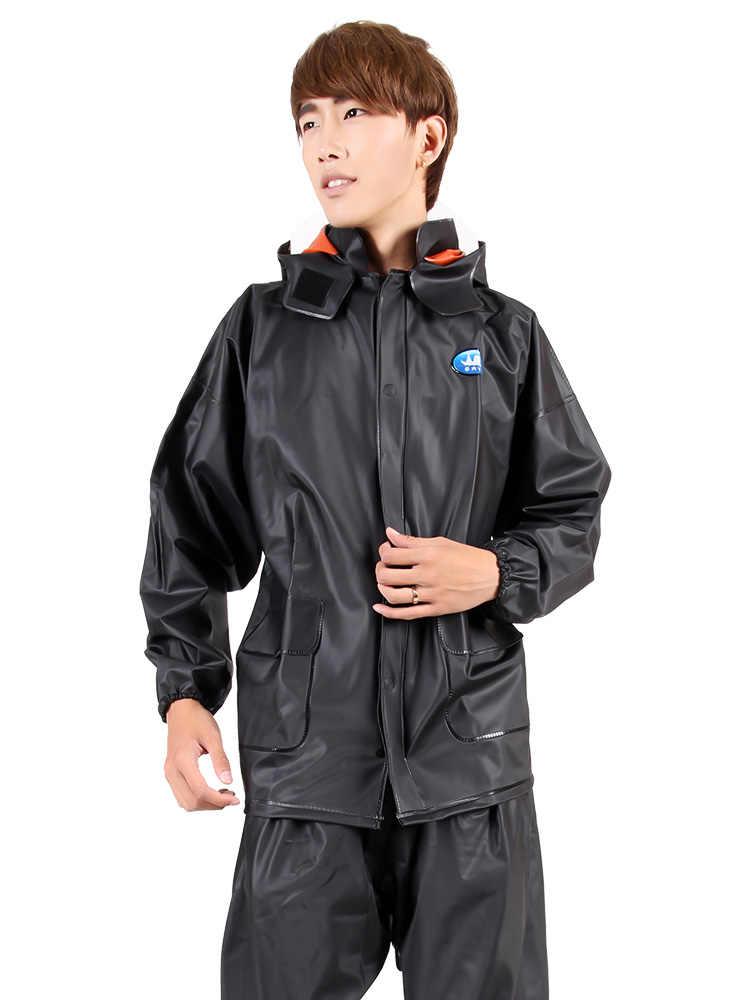 Прозрачный плащ брюки костюм водонепроницаемый мужской непромокаемый плащ велосипедный мотоцикл электромобиль Женская непромокаемая одежда с капюшоном R5C162