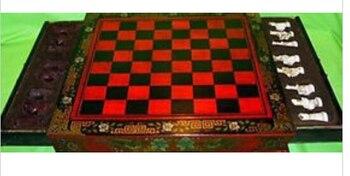 Chino Viejo coleccionables Vintage 32 juego de madera con mesa bronceChina venta...