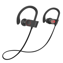 F2 Sweatproof Deportes Bluetooth Headset Earhook Inalámbrica Bluetooth Auriculares de Cancelación de Ruido Auriculares con micrófono para el teléfono