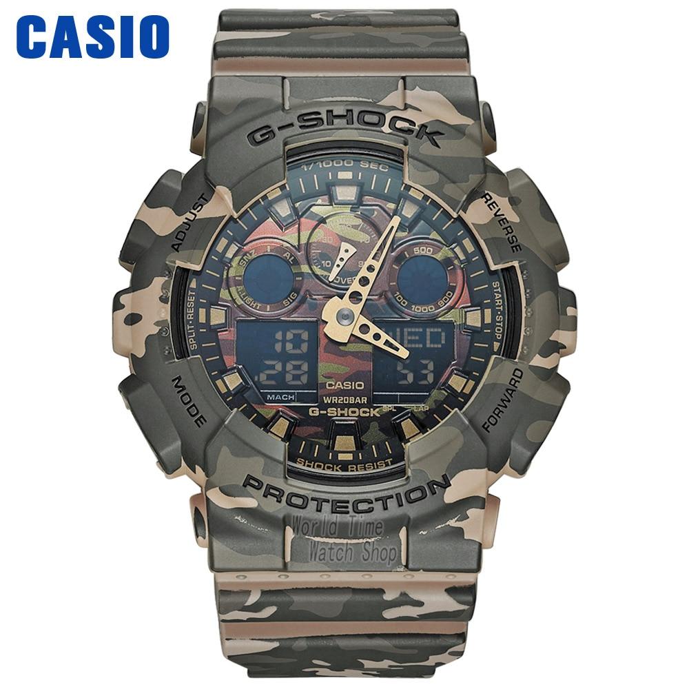 Zegarek Casio g shock watch mężczyźni top marka luksusowy LED wojskowy zegarek cyfrowy sport Wodoodporny zegarek kwarcowy Ograniczony zegarek męski relogio masculino reloj hombre erkek kol saati montre homme GA100CM-5