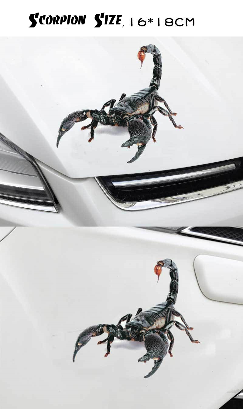 Купить с кэшбэком 3D Scorpion Lizard Spider Car Sticker Car Modification Decal Auto Tuning Stickers Automobile Boy Decoration Accessories