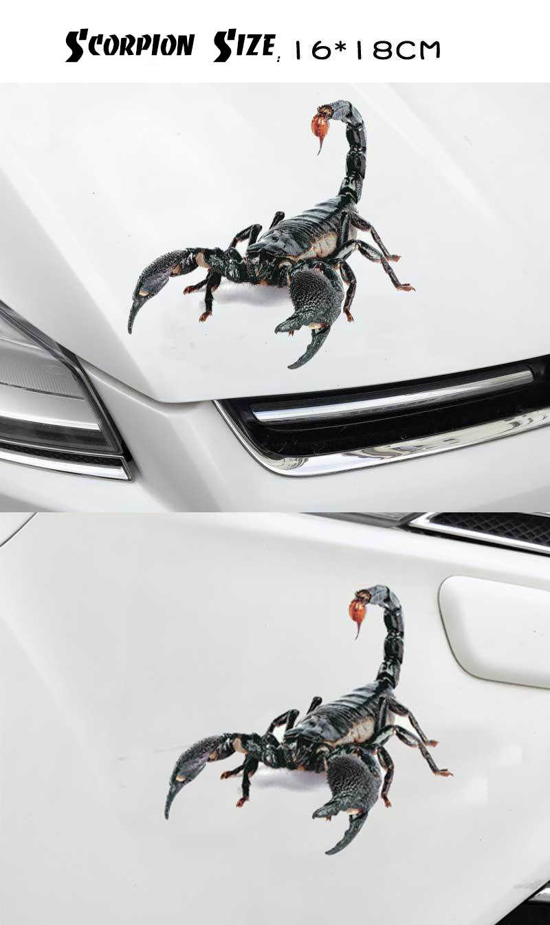 3d scorpion lizard spider car sticker car modification decal auto tuning stickers automobile boy decoration accessories