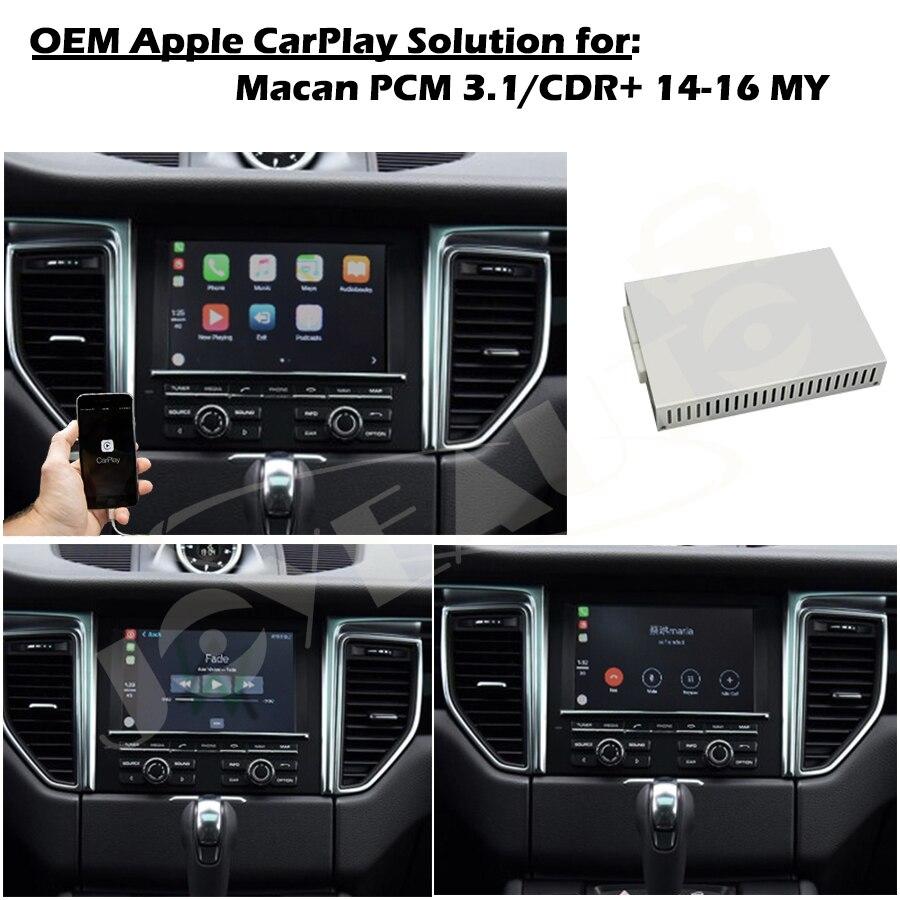 ZHOYITO Aftermarket OEM Smart Auto Apple CarPlay Multimedia Box Upgrade  Retrofit for 2014-2016 Porsche Macan PCM3 1 CDR Plus
