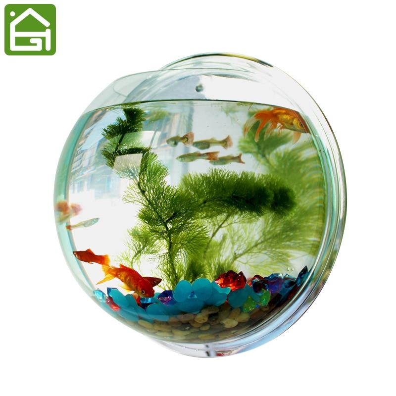 Creative Wall Hanger Organizer Acrylic Hanging Fish Bowl