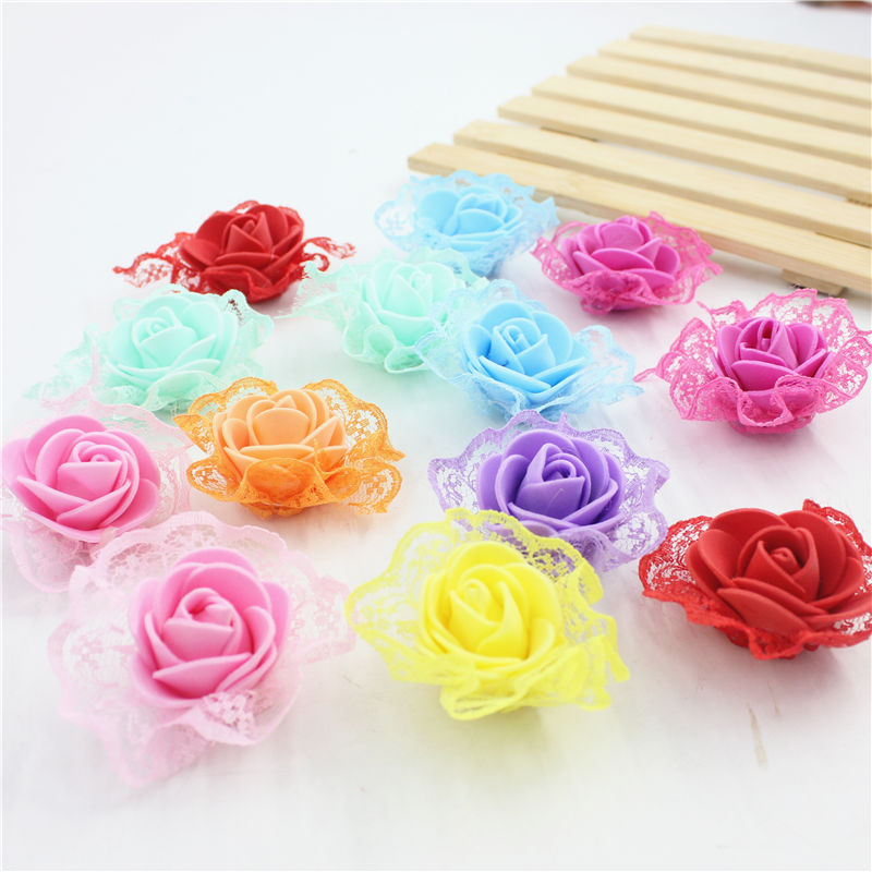 60 Pcs Home & Garden Artificial & Dried Flowers Lot Pectoral Flower Head Wreath Foam Pe Bubble Pink Creative Bouquet Wedding Dress Materials Diy Decorative Wreaths Preventing Hairs From Graying And Helpful To Retain Complexion