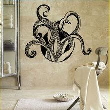 Octopus Wall Decal Animals Tentacles Vinyl Sticker Bathroom Decoration Sea Ocean Style Art Mural W445