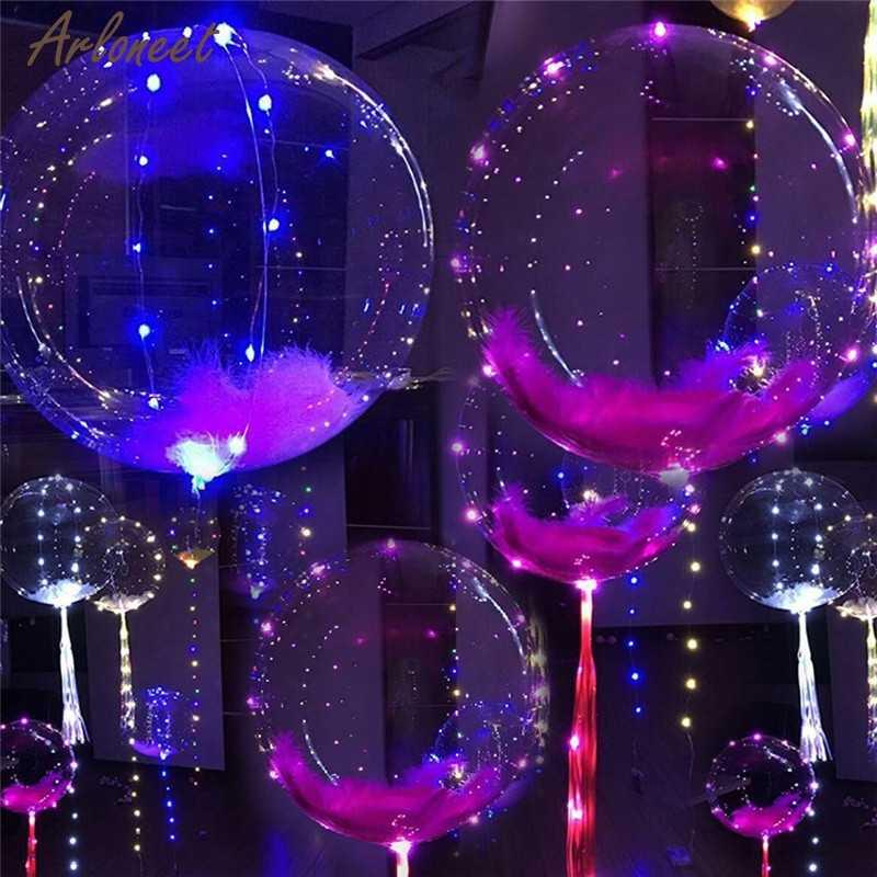 LED Toys Round Balloon shape Light Up Decoration Party Wedding  Reusable infantiles birthday Party Decor Valentine gift Luminou