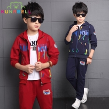 Spring Kids Clothing Set Children Boys Teenager Jacket Pants Sports Suit Brand Casual Tracksuits Toddlers Sportswear Clothe H016
