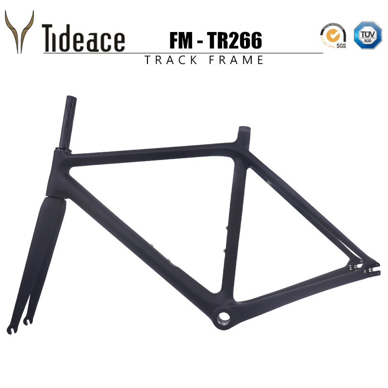 2019 NEW Arrival Fixed Gear Track Bike Frameset BSA Tapered  49 51 53 55 57 59cm Carbon Road Bike Frame And Fork