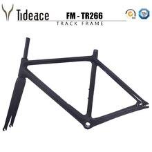 2019 NEW arrival fixed gear track bike frameset BSA tapered  49 51 53 55 57 59cm carbon road bike frame and fork