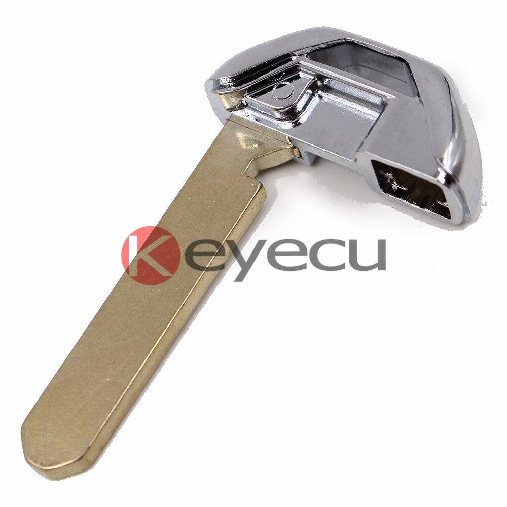 Keyecu Pair New Uncut Emergency Smart Remote Key Insert