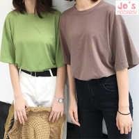 2018 Casual Solid Ladies Black White Cotton Oversize T Shirt Women Tshirt Plus Size Short Sleeve O-neck DX612