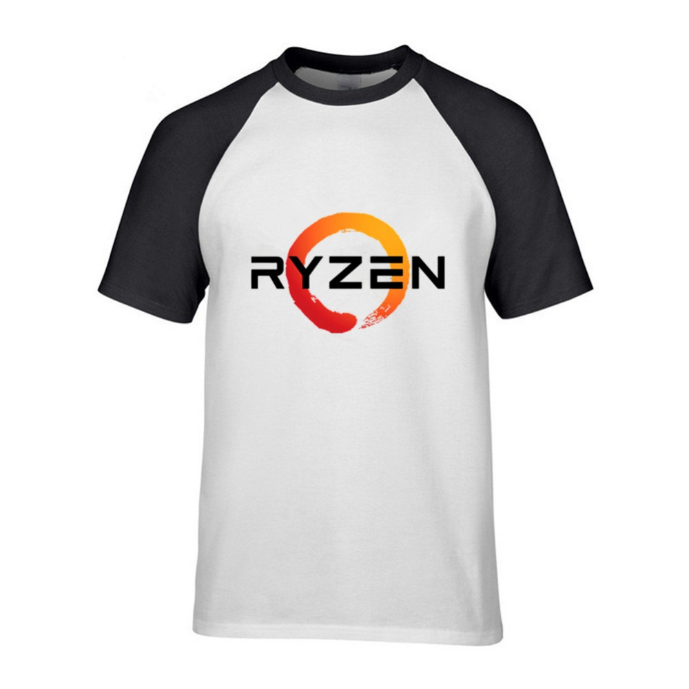 PC CP CPU Uprocessor AMD RYZEN T Shirt geek programmer tees Gaming camiseta Computer ZEN Peripherals cool cotton geek T-Shirt