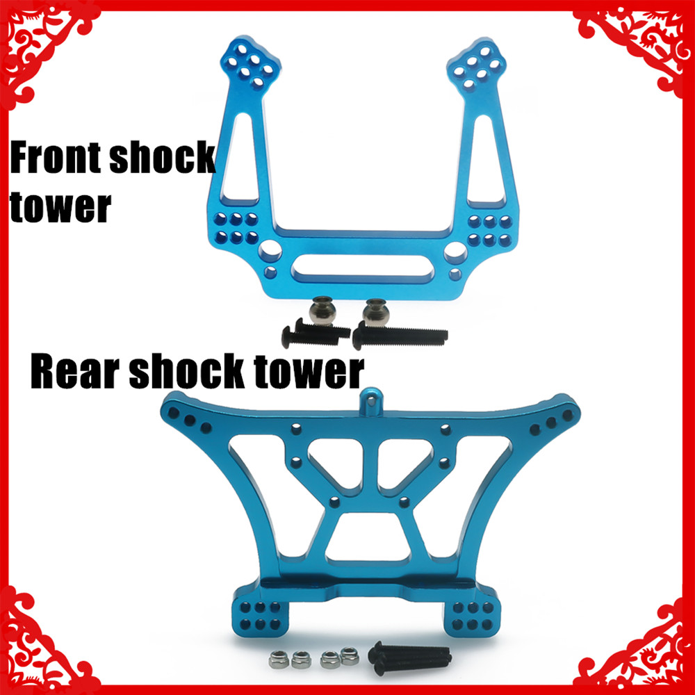 Alloy front/rear shock tower for rc hobby model car 1/10 for Traxxas Slash 2WD short course parts(China)