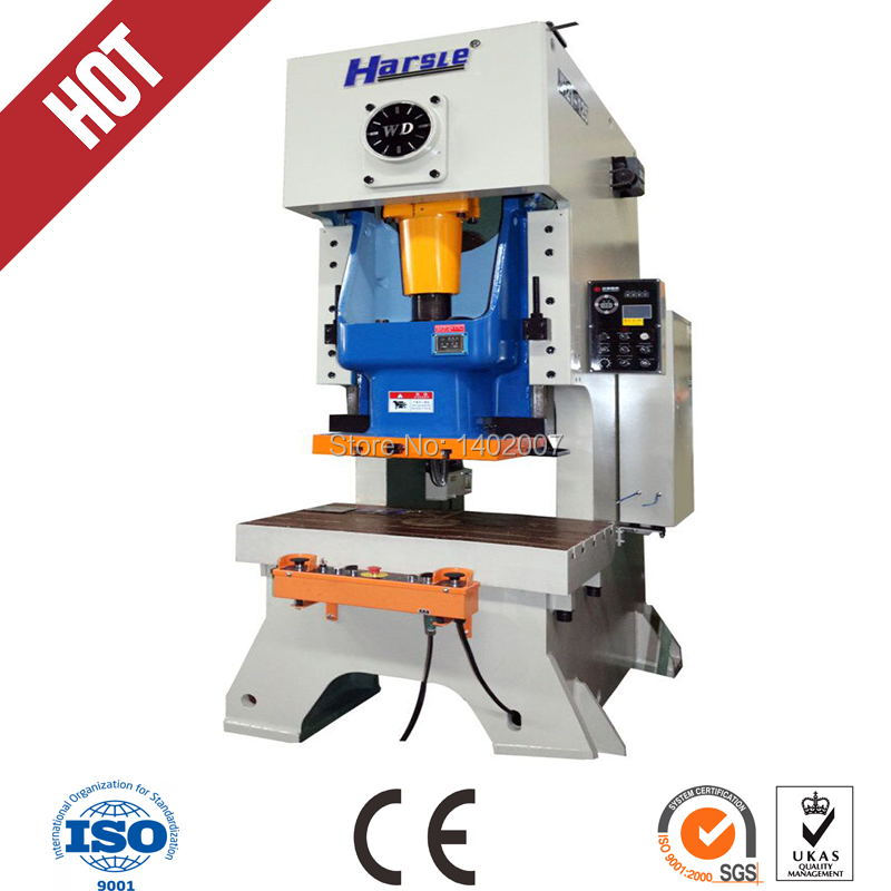 high speed pneumatic boxing power press,JH21 25tons automatic steel hole punching machine for window and door